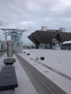 東京ビックサイト西棟屋上に初めて入った